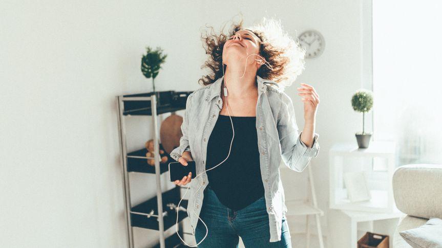 Woman dancing.