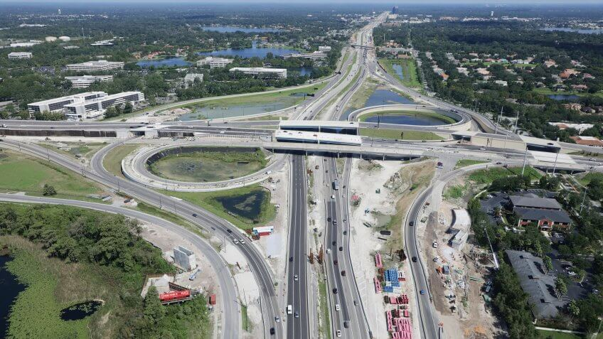 I-4 Ultimate Project construction progress in September 2018