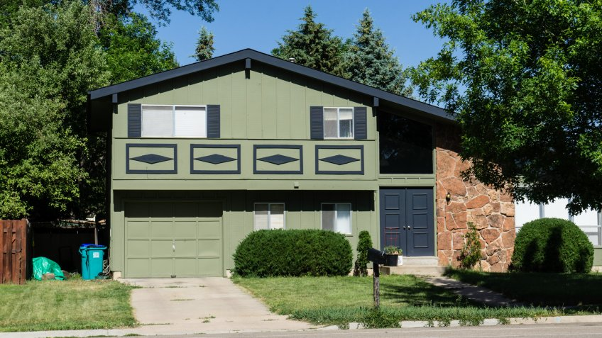 Fort Collins, Colorado, USA - June 17, 2014: A typical middle class house in Fort Collins.
