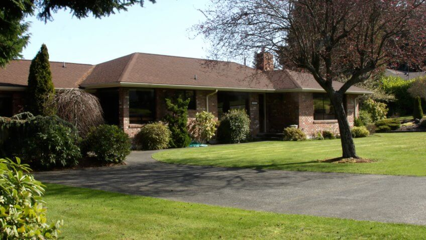 Residential family home of the 1980s.