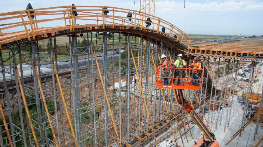San Joaquin River Viaduct California High Speed Rail construction