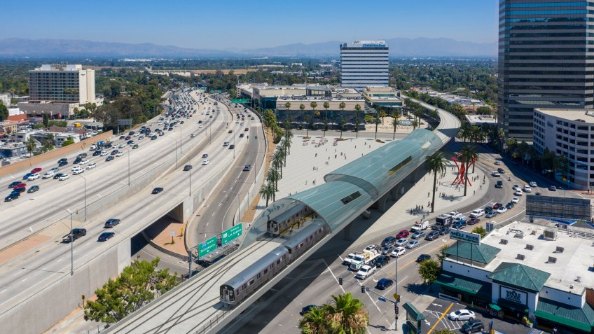 Sepulveda Pass Transit Corridor in the San Fernando Valley concept