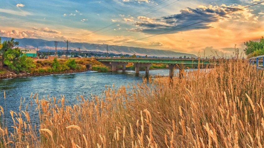 Platte River Bridge and Sunset - Image.
