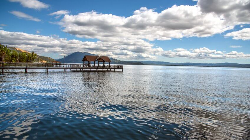 Clear Lake is a natural freshwater lake located in Lake County in the U.