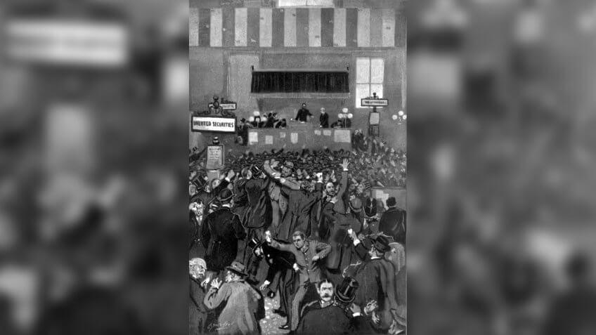 Illustration Panic at the NYSE 5 May 1893