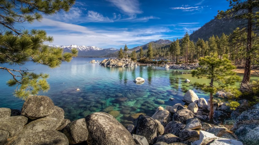 A beautiful day at the Sand Harbor area of Lake Tahoe.