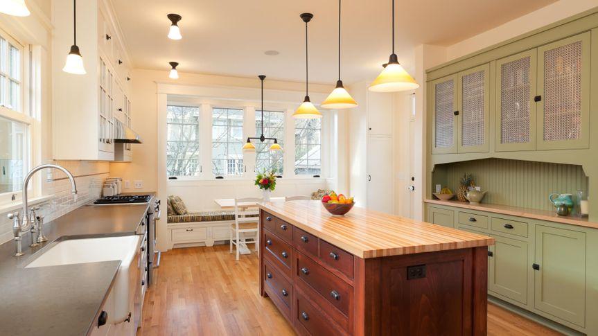 Beautiful kitchen with large island.