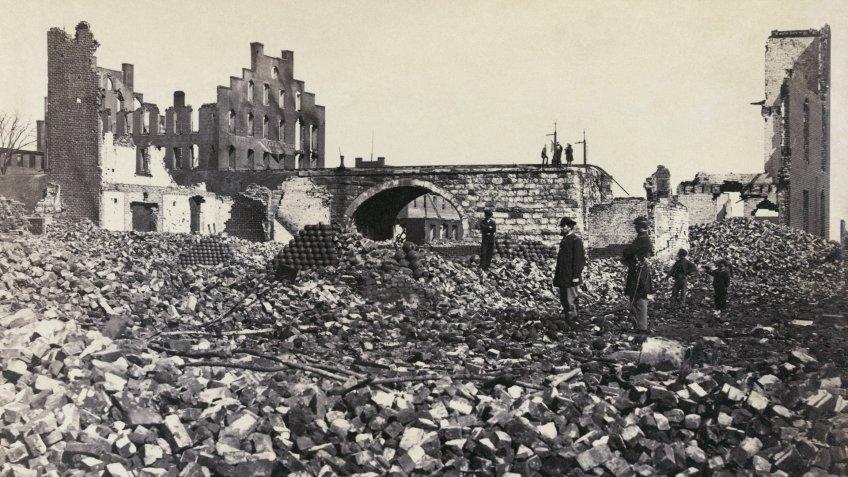 Richmond Virginia ruins during Civil War
