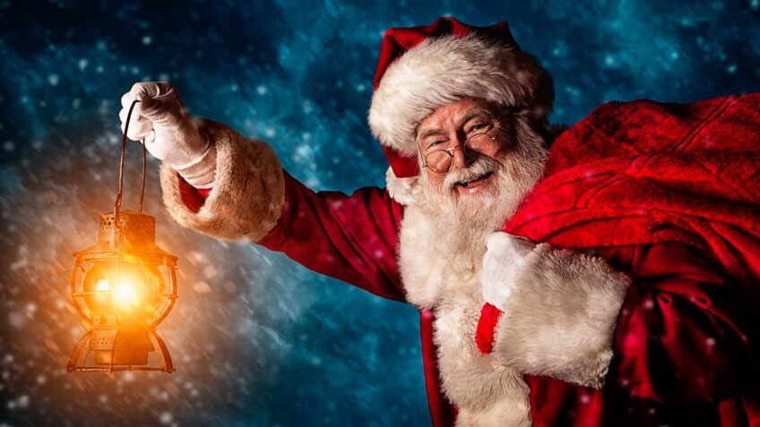 A real authentic Christmas photo of Santa Claus.