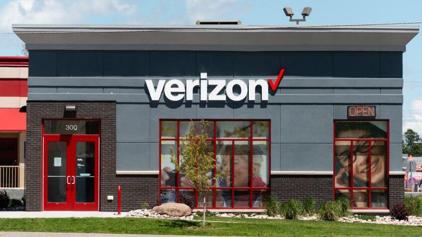 A Verizon Wireless store in Cheyenne, Wyoming.