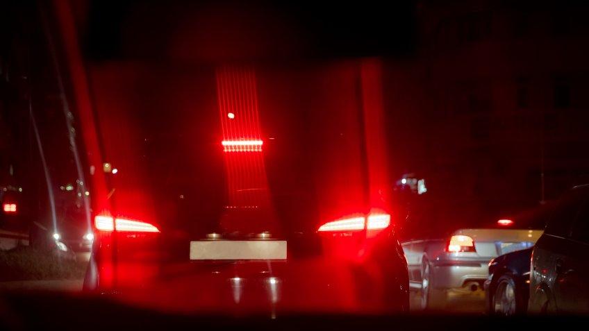 break lights at night