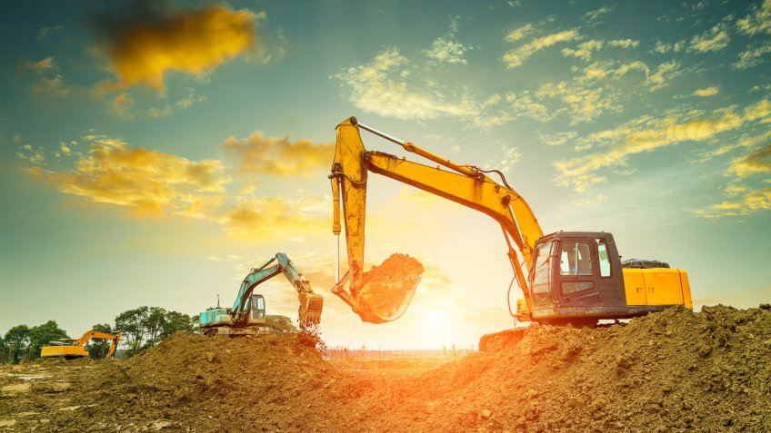 construction equipment on site