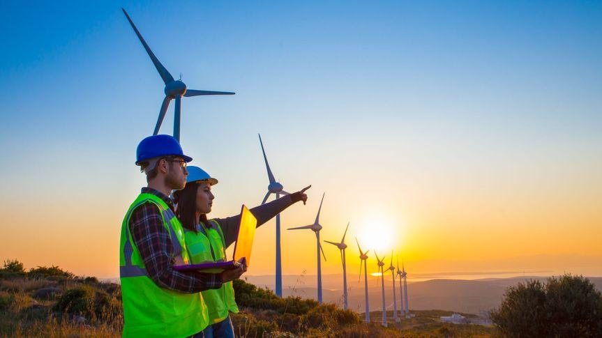 Engineers of wind turbine.