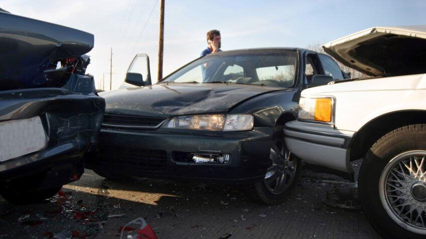 a three car accident.