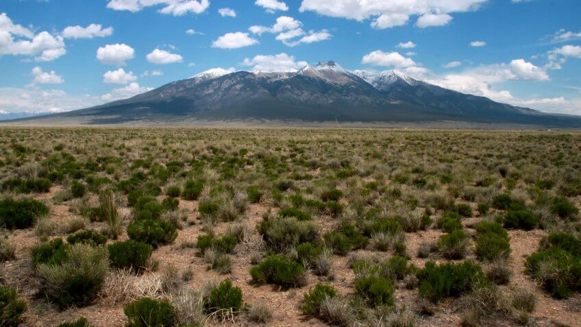 A view of Blanca Peak in Alamosa County, Colorado - Image.