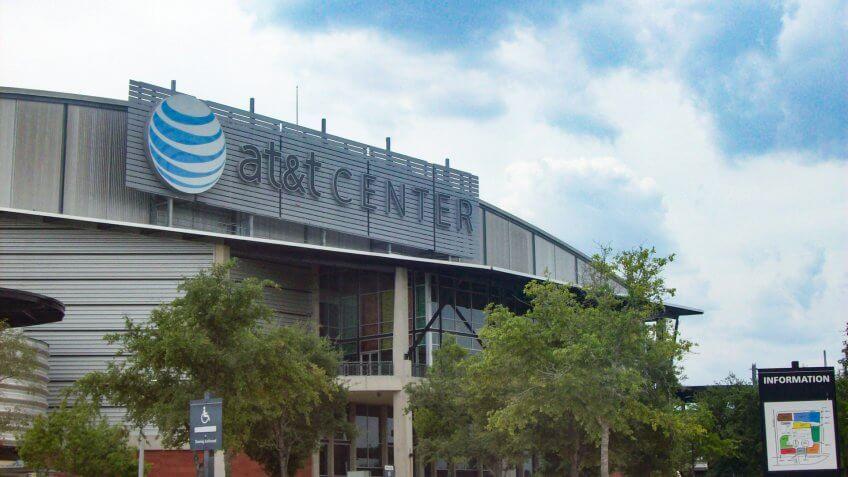 AT&T Center in San Antonio.