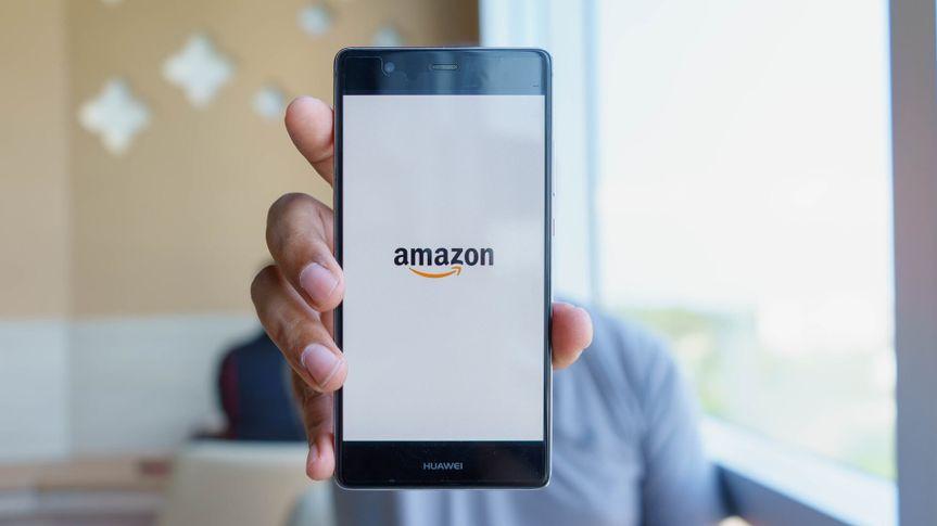 Amazon app on smartphone