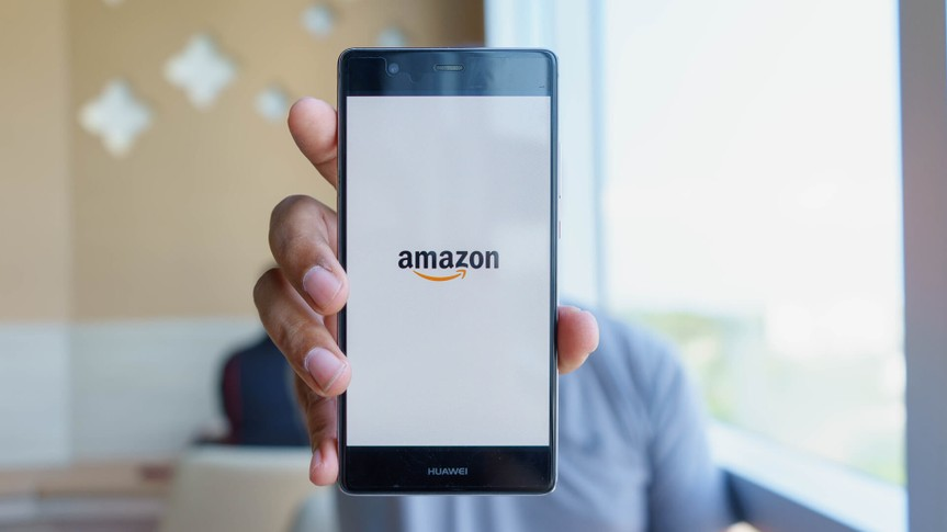 Amazon app on smartphone