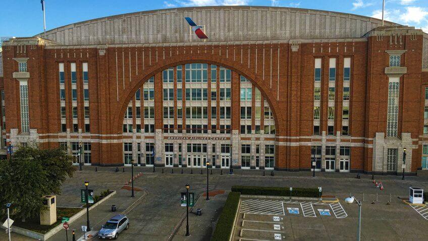 DALLAS, TEXAS/UNITED STATES- JANUARY 19, 2016: American Airlines Center in Dallas - Image.