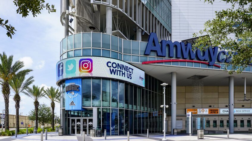 Amway Center on May 21, 2017 in Orlando, Florida, USA.