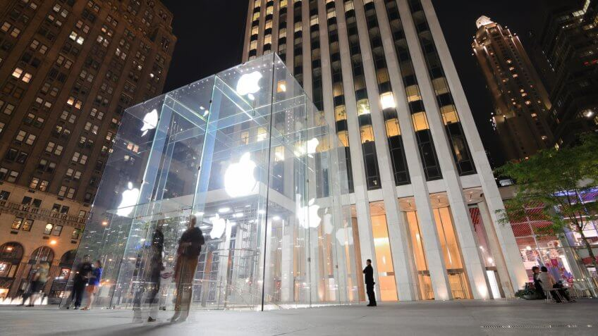 NEW YORK CITY - MAY 12: The flagship Apple Store May 12, 2012 in New York, New York.