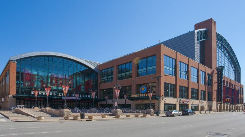 Bankers Life Fieldhouse in Indianapolis.