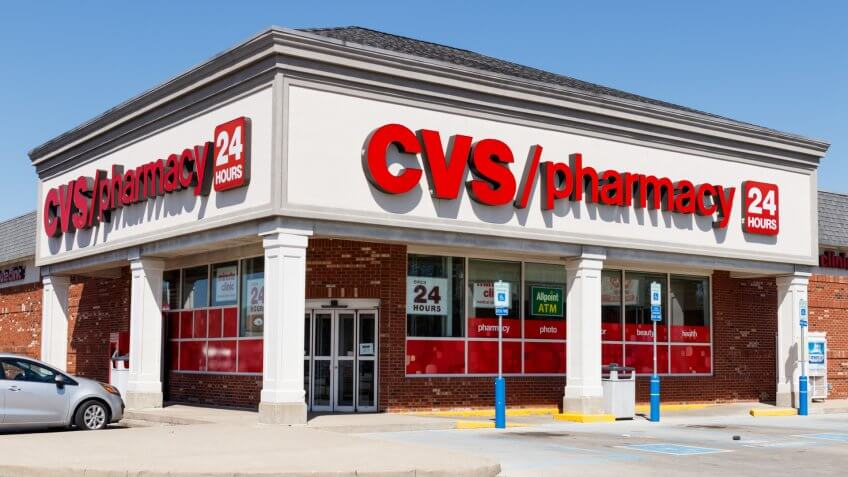 Anderson - Circa April 2018: CVS Pharmacy Retail Location.