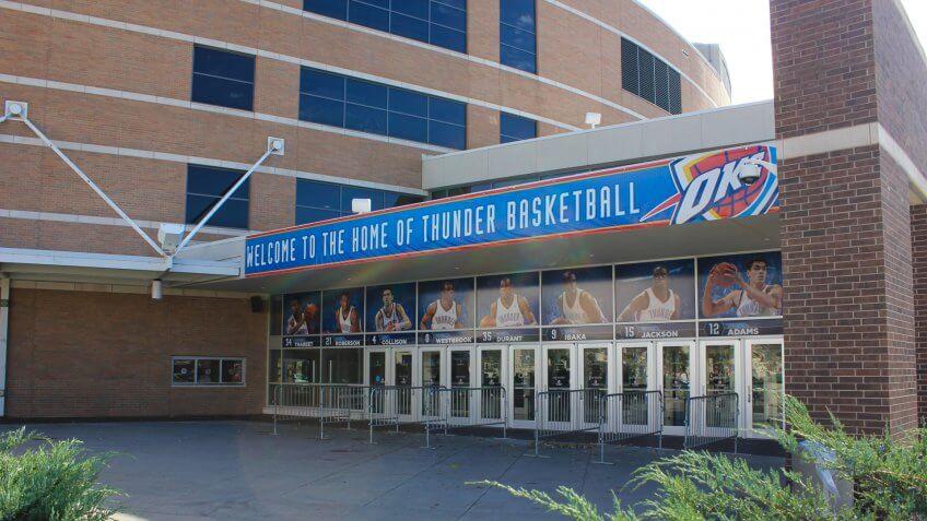 Chesapeake Energy Arena in Oklahoma City.