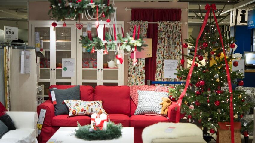 Christmas time of IKEA at Sha Tin in HongKong, November 27th, 2017 - Image.