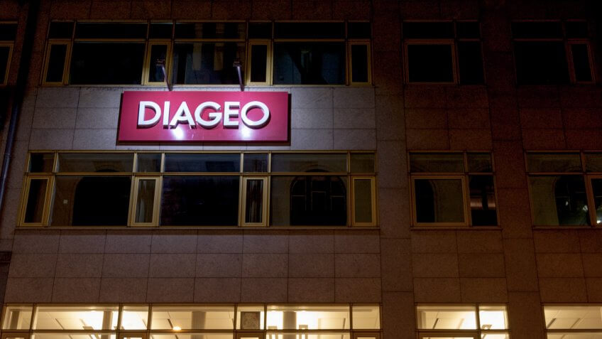 BUDAPEST, HUNGARY - APRIL 6, 2018: Diageo logo on their Budapest Main Office.