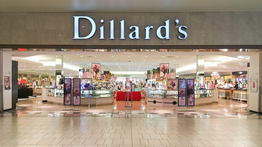 PHOENIX, ARIZONA, JULY 1, 2017: Dillard's Department Store - Image.
