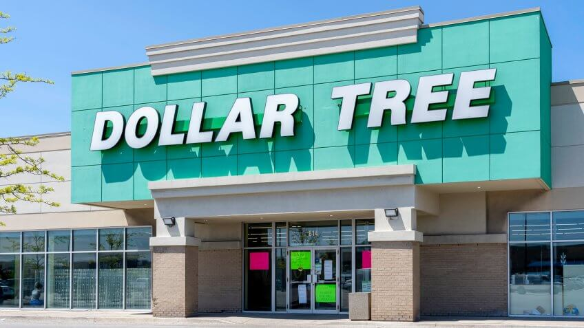 Toronto, Canada - June 03, 2019: Dollar tree store in Toronto.