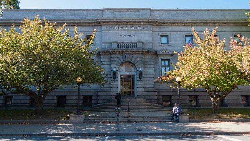 Fall River Public Library, Massachusetts.
