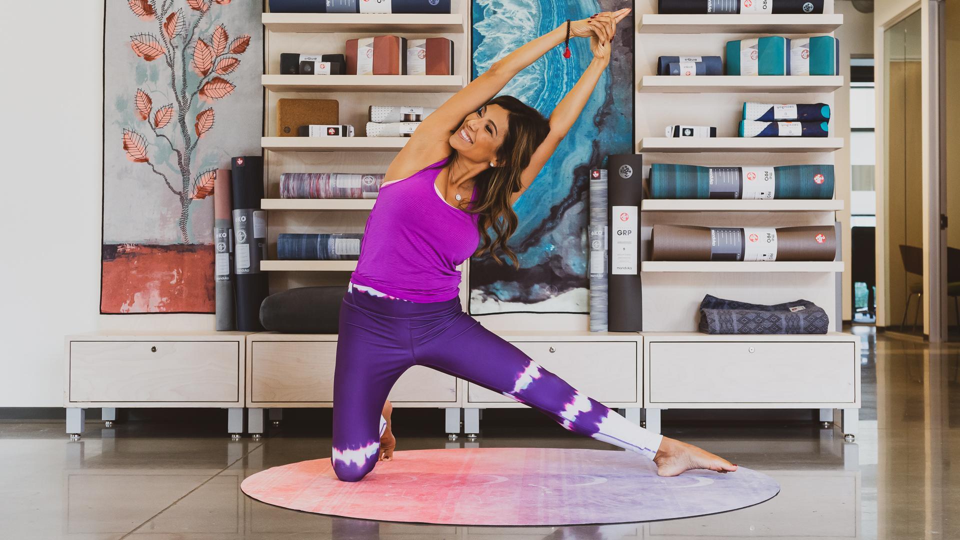 gate yoga pose.