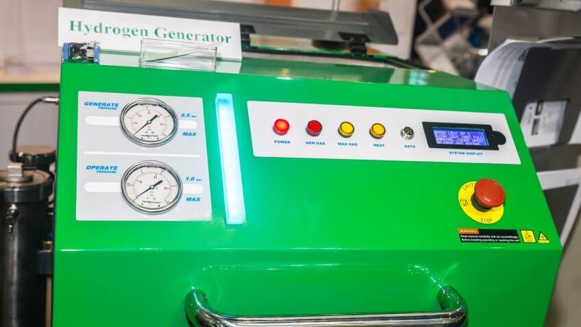 BANGKOK ,THAILAND - MAY 16: Hydrogen Generator at Intermach-Subcon Thailand 2015, on MAY 16, 2015 in Bangkok, Thailand.