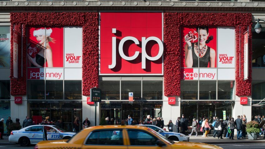 New York NY/USA-December 3, 2011 The Midtown Manhattan JCPenney department store in New York - Image.