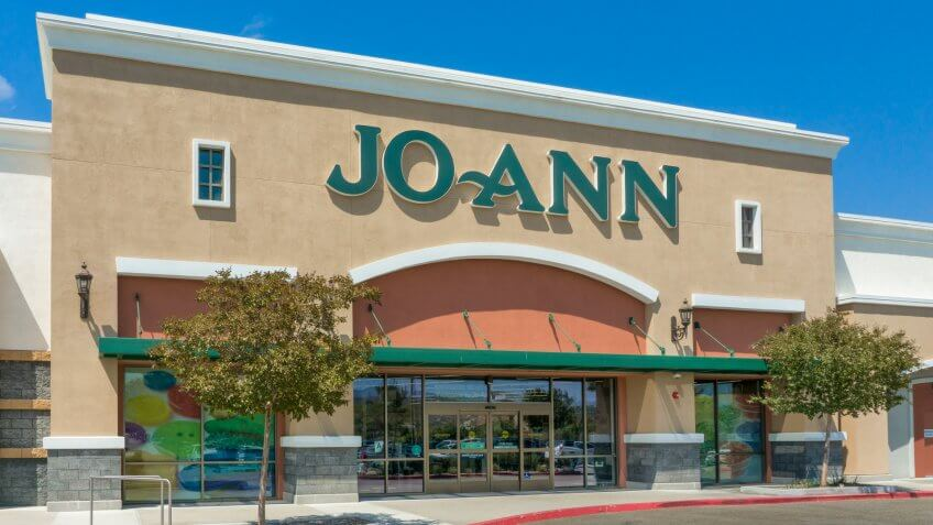 SANTA CLARITA, CA/USA - SEPTEMBER 4, 2016: Exterior view of Jo Ann Fabrics and Crafts store.