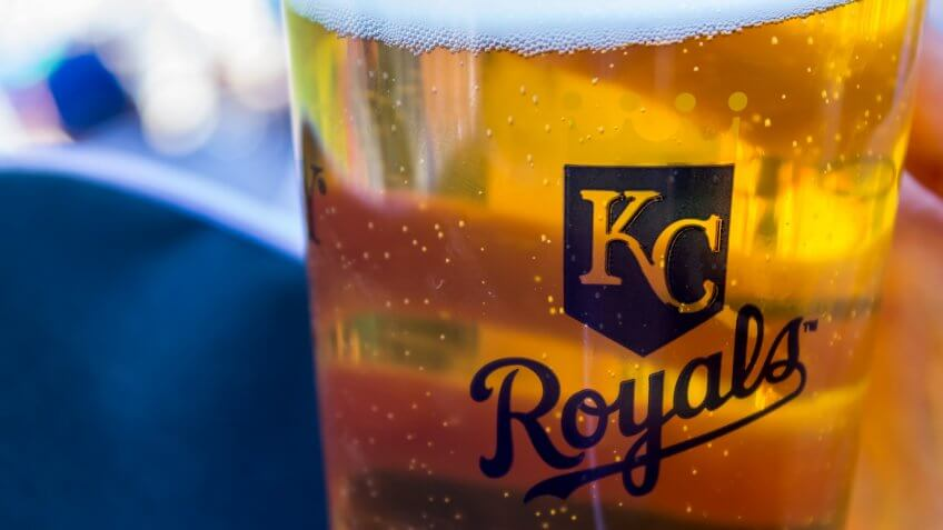 Kansas City Royals beer glass