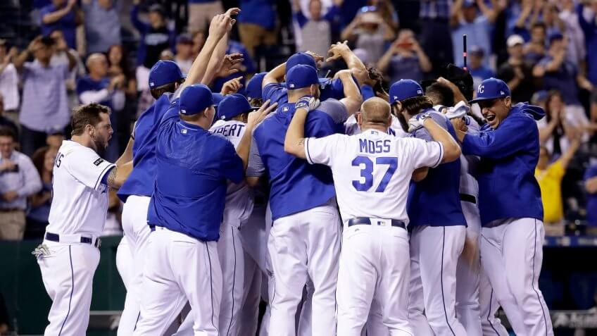 Kansas City Royals celebrate win
