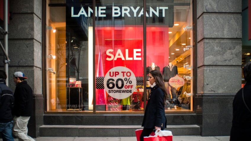 New York NY/USA-December 18, 2010 Lane Bryant store in Midtown Manhattan - Image.