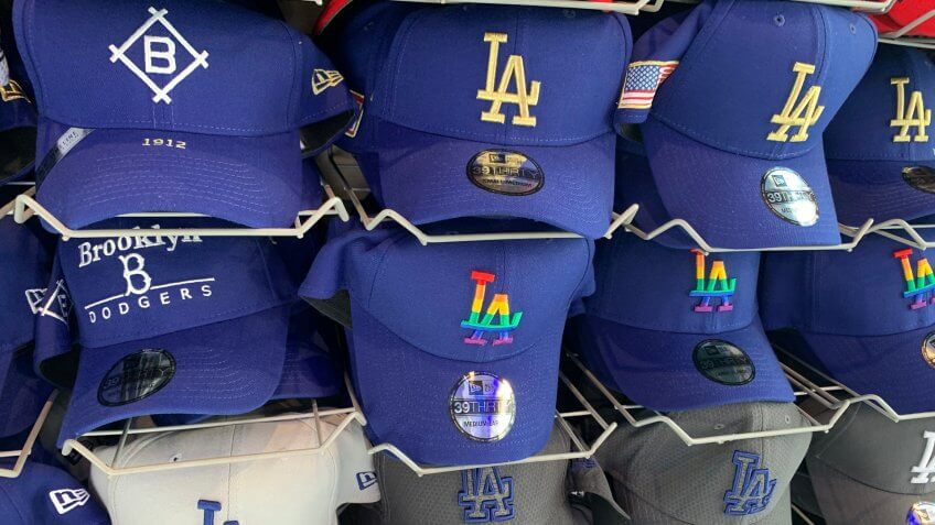Los Angeles Dodgers hats