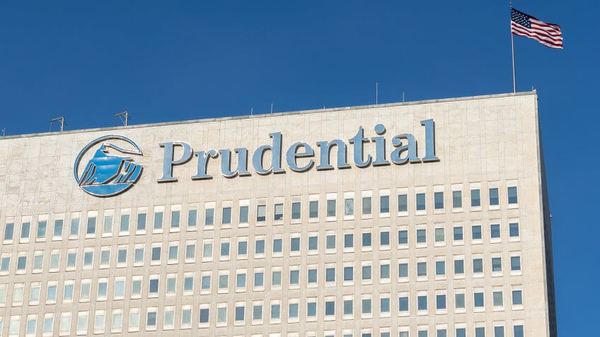 New Jersey, USA - January 27, 2019: Prudential sign and building at its headquarters in New Jersey.