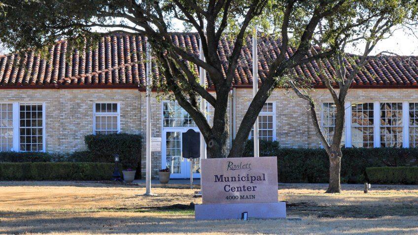 Rowlett, Texas Municipal Center.