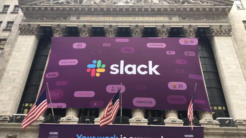 Slack IPO at New York Stock Exchange