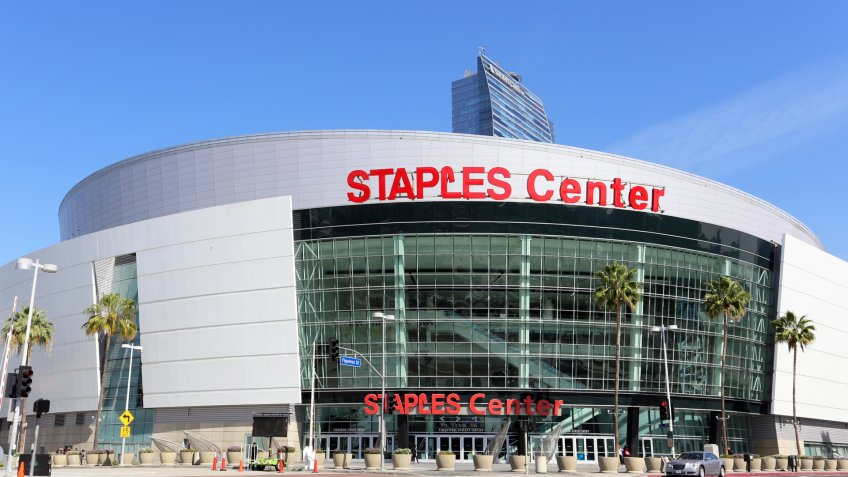 LOS ANGELES - MARCH 17: Staples Center located in Los Angeles, California on March 17, 2014.