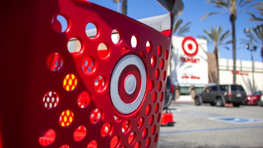Target store shopping cart