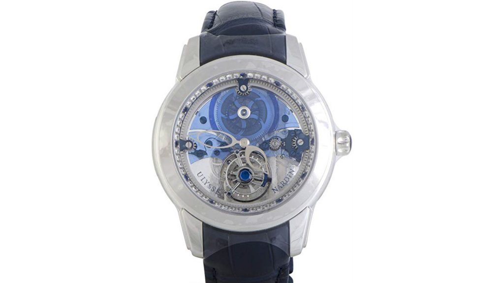 Ulysse Nardin Royal Blue Mystery Tourbillon Watch 799-90Amazon