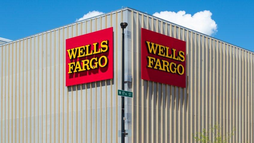 A Wells Fargo location in downtown Cheyenne, Wyoming.