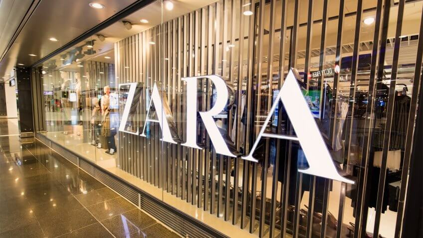 HONG KONG-AUGUST 15, 2017: Zara store at the Hong Kong International Airport.