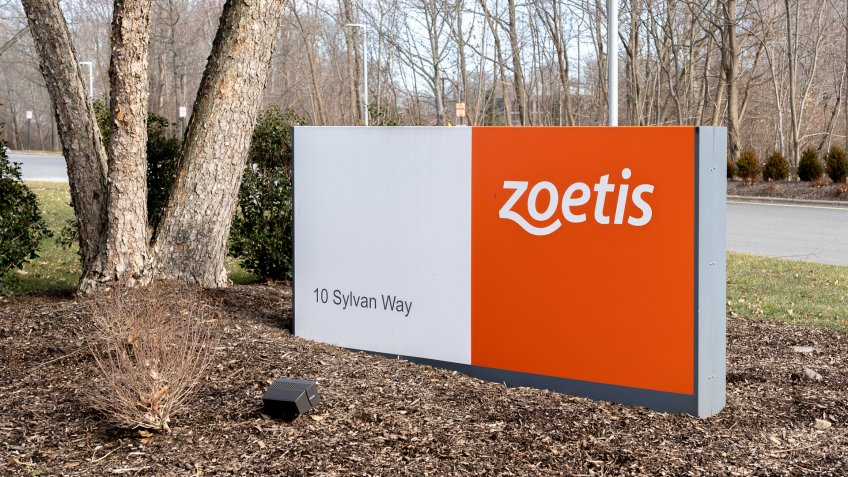 New Jersey, USA - January 27, 2019: Zoetis sign at its Corporate global headquarters in New Jersey.